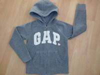 Gilet polaire GAP gris - BE sauf tissu de la tirette de la fermeture éclair un peu arraché = 12€