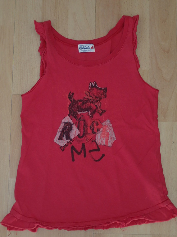 Top rouge Chipie 10ans BE : 12€