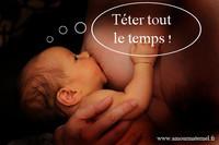 bébé pendu au sein