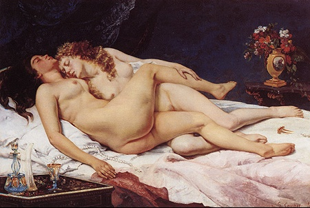 Paresse et Luxure ou Le Sommeil de Gustave Courbet ( 1866, Petit Palais ), 135 X 200