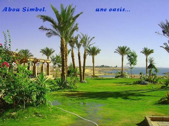 L'oasis du site d'ABOU SIMBEL