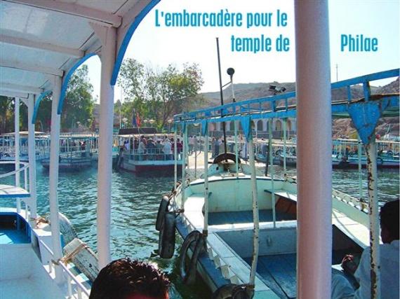 embarcadère pour le temple de Philae