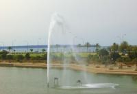 le jet d'eau et les jardins de la cathédrale