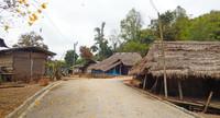 village en direction de Chiam rai (le triangle d'or)