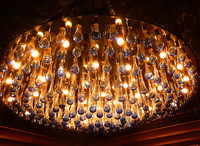 Lustre en verre de Murano