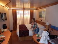 Une partie de notre cabine (le reste est trop en désordre) lol