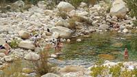 une piscine naturelle en descendant de Bavella