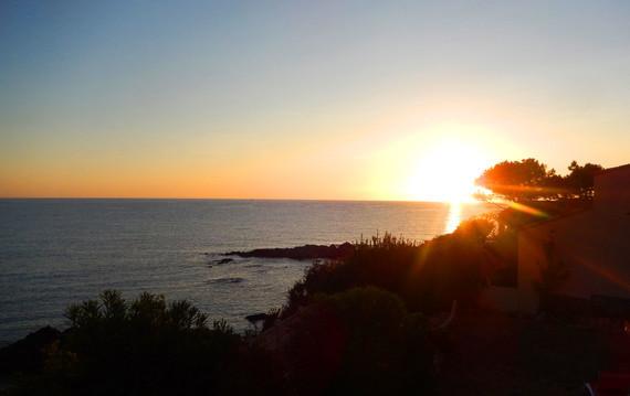 vue du studio coucher du soleil