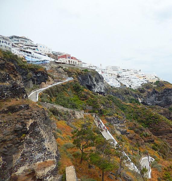 les hauteurs de Santorin