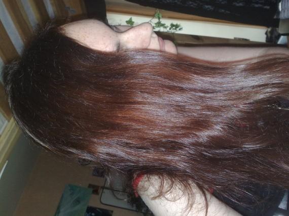 Obtenir une couleur rouge/rousse sur cheveux chatain
