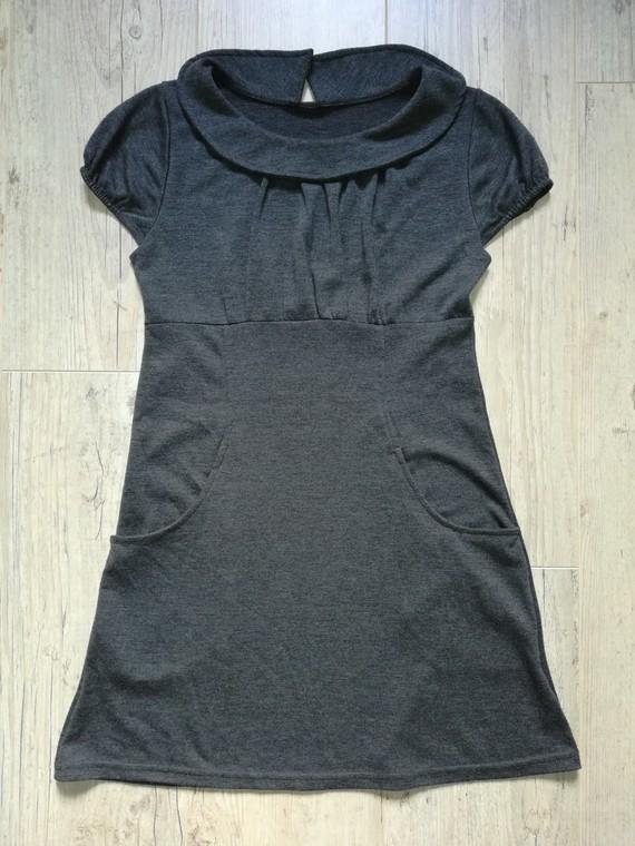robe gris foncé 10-12a