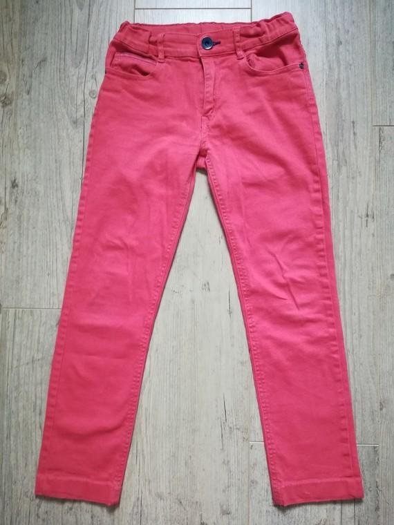 catimini pantalon jean rouge corail 12a mais ourlet dc 10-11a