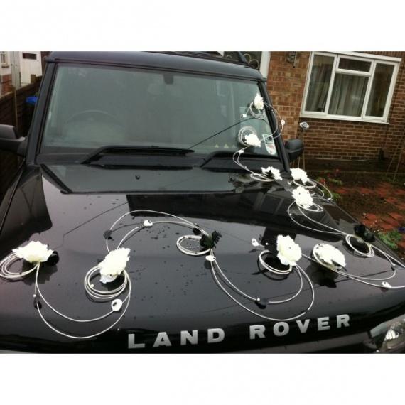 Decoration voiture noir et blanc pr paratifs mariage for Decoration noir et blanc