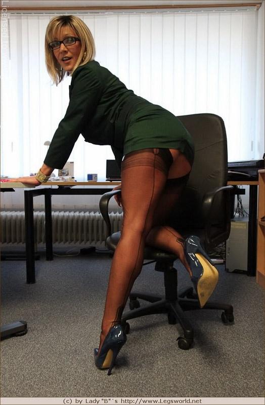 Lady B Ewa Milf Bitchy Boss In Stockings And Fuck Me Heels
