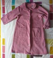 Robe de chambre polaire coloris rose 6 ans TBE (micro trace près d'une poche) 8 euros