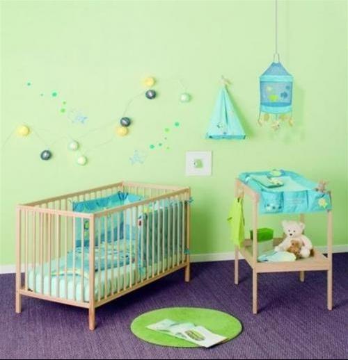 Chambre fille fushia et vert anis Deco chambre bebe garac2a7on taupe et bleu