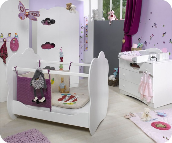 Id e th me nuage chambre b b fille help chambre de for Photo de chambre bebe