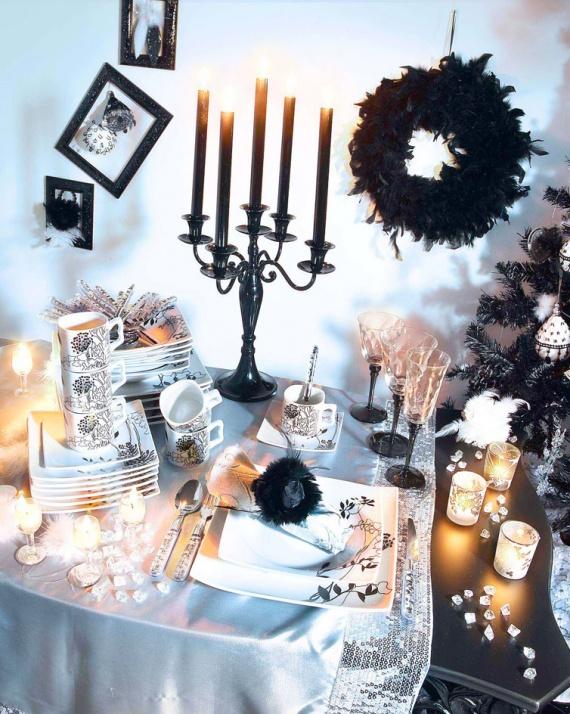 table i noir blanc Décoration mariage annamea