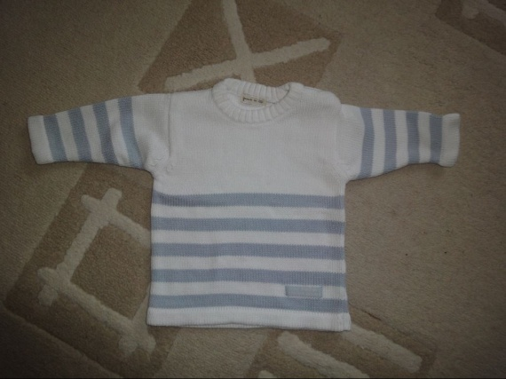 pull rayé bleu et blanc 5€