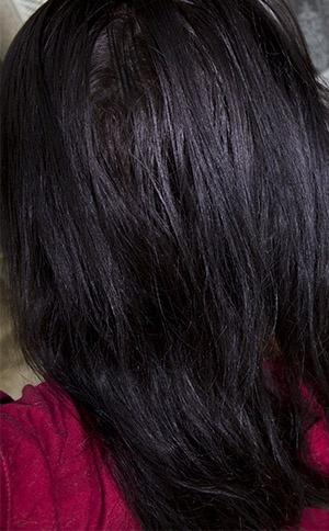 avant before - Color Out Cheveux Noir