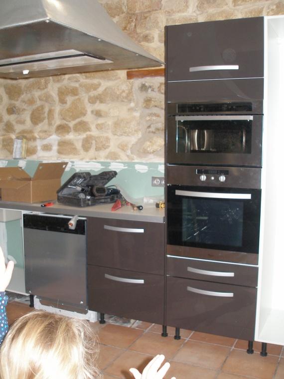 Suite des caissons et ilot central ma cuisine etape 1 for Caisson ilot central cuisine