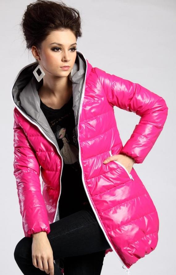 Натуральный пуховик Moncler-Все размеры-Черный и розовый.