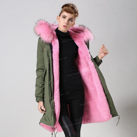 Hot-Sale-Pink-font-b-Faux-b-font-font-b-Fur-b-font-Parka-Knitted-Long