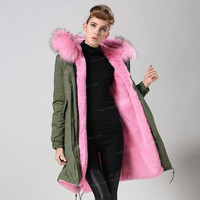 Hot-Sale-Pink-font-b-Faux-b-font-font-b-Fur-b-font-Parka-Knitted-Long