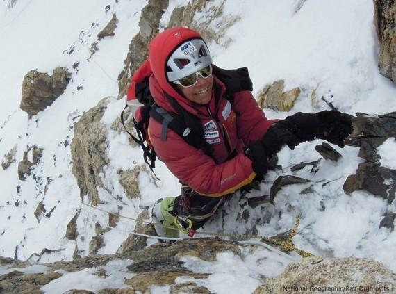 K2-2011_Gerlinde-im-Steilaufschwung-kurz-vor-der-Felsschulter©R-Dujmovits