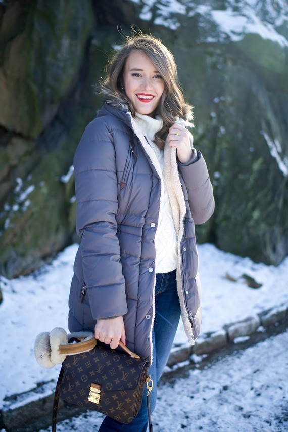covering the bases fashion blog ralph lauren puffer coat winter fashion fur boots ugg earmuffs-6