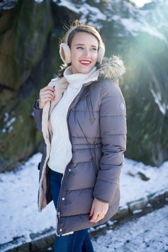 covering the bases fashion blog ralph lauren puffer coat winter fashion fur boots ugg earmuffs-7