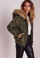 padded-faux-fur-hood-jacket-khaki