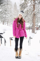 lake tahoe pink coat sorel boots winter outfit inspiration-3