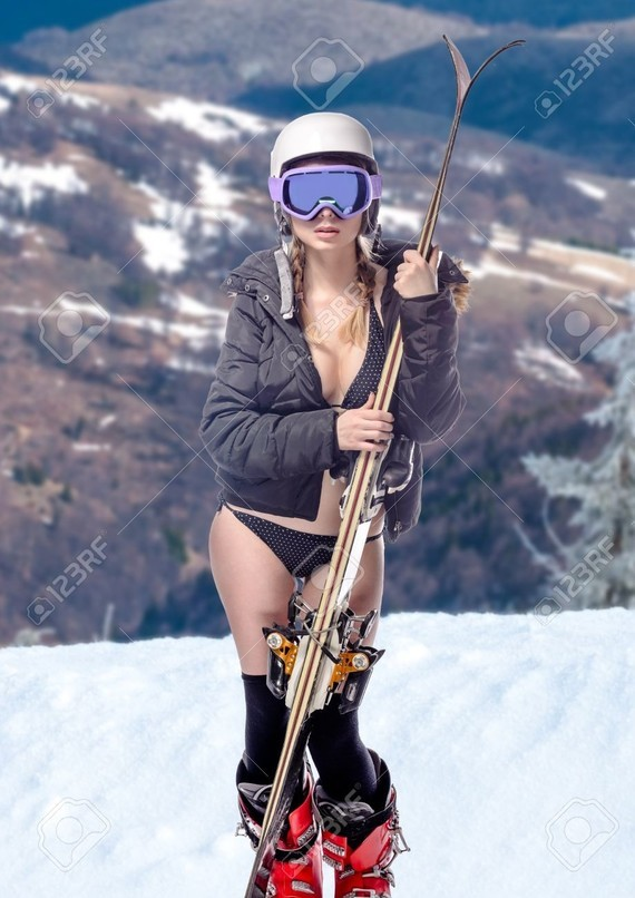 34565704-freeride-naked-girl-with-snow-landscape-at-background