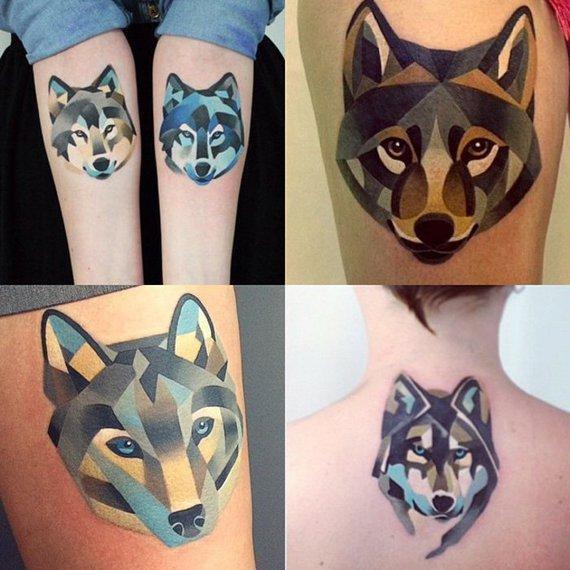 significations,tatouages,tatouages,géométriques,s,couleur