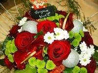 joyeux noel fleurs