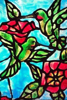 colibris vitrail