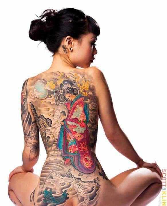 Geisha De Dos ✾des tattoos de geisha sur le dos✾ - di-ange - doctissimo