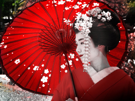 geisha-ombrellerouge