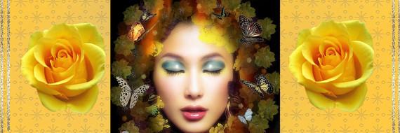 BAN Femme papillons