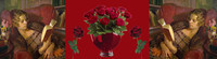 ban liseuse roses rouge