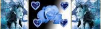 ban bleu coeurs