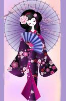 jeune fille parasol