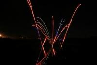 Feux d'artifice sur le lac de Valenton
