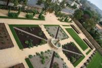 Les jardins vus d'en haut
