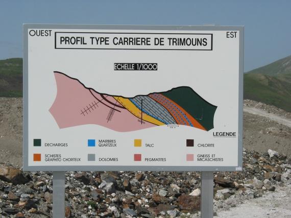 Carrière de Talc de Luzenac - Trimouns - Ariège
