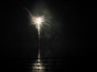 Feux d'artifice sur le lac d'Ermenonville