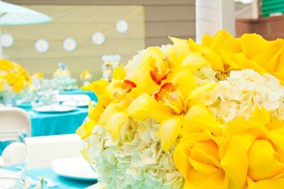 centre-table-jaune-bleu-bapteme - Copie