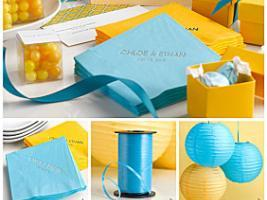 decoration-de-bapteme-ou-communion-jaune-et-bleu-turquoise-7690388