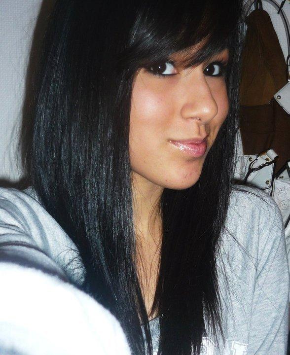 Meche sur cheveux noir